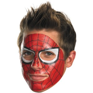 Spider-Man Face Tattoo - Red / One-Size