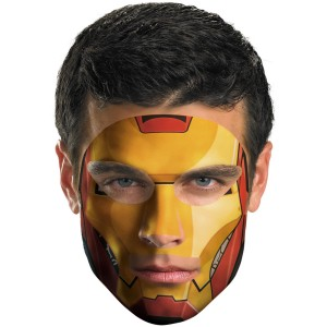 Iron Man Face Tattoo - Red / One-Size