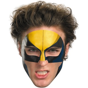 Wolverine Face Tattoo - Yellow / One-Size
