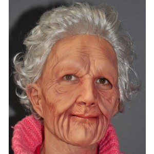 Supersoft Old Woman Adult Mask - Tan / One Size Fits Most Adults
