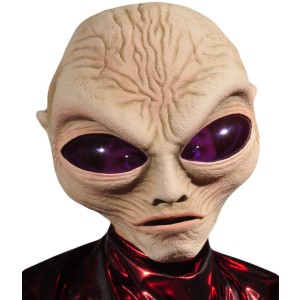 Grey Alien Adult Mask - Gray / One Size Fits Most Adults