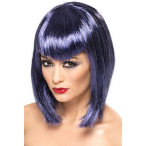 Vamp Purple Adult Wig - Purple / One-Size