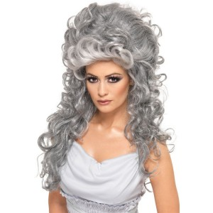 Medeia Bee Hive Adult Wig - Gray / One-Size