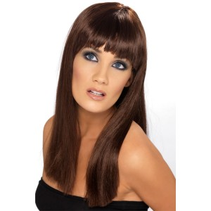Glamarama Brown Adult Wig - Brown / One-Size