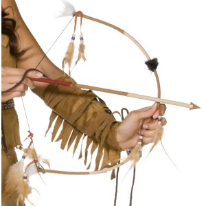 Indian Bow & Arrow Set - Brown / One-Size