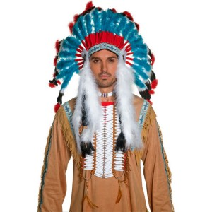 Western Authentic Indian Headdress Adult - Brown / One-Size