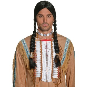 Western Authentic Beaded Breastplate Adult - Brown / One-Size