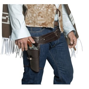 Authentic Western Gunman Belt & Holster Adult - Brown / One-Size
