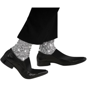 Michael Jackson Sparkle Socks Child - Silver / One-Size