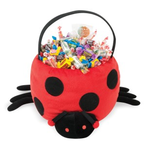 Ladybug Plush Basket - Red / One-Size