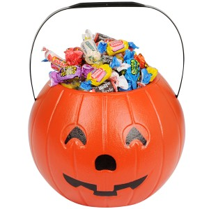 8in Pumpkin Treat Bucket - Orange / One Size