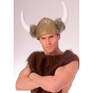 Deluxe Viking Helmet - Brown / One-Size