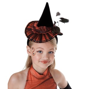 Orange Tutu Witch Hat Child - Orange / One Size