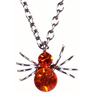 Spider Gem Necklace - Black
