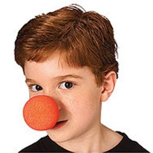 Red Sponge Clown Nose - Red / One Size