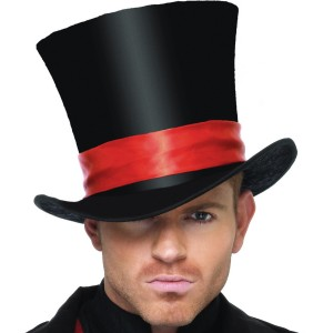 Deluxe Velvet Top Hat Adult - Black / One-Size