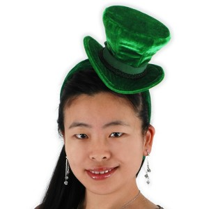 Green Cocktail Top Hat Headband - Green / One-Size