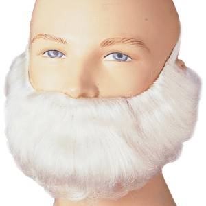 Short White Beard and Moustache Adult - White / One-Size