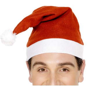 Economy Red Santa Hat Adult - Red / One-Size