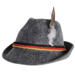 German Alpine Hat Adult - Gray / One-Size