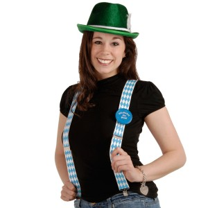 Oktoberfest - Suspenders Adult - White/Blue / One-Size