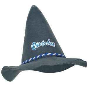 Oktoberfest - Felt Peasant Hat Adult - Gray / One-Size