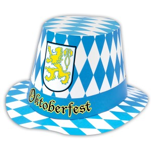 Oktoberfest - Hi-Hat Adult - White/Blue / One-Size