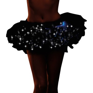 Light Up Black Tutu Adult - White / One-Size