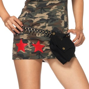 Bullet Belt With Pouch Adult - Black / One-Size