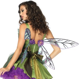 Strapless Woodland Fairy Wings Adult - Green / One-Size