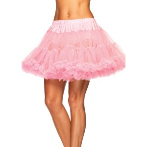 Pink Layered Tulle Petticoat Adult - Pink / One-Size