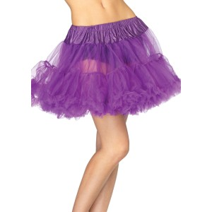 Purple Layered Tulle Petticoat Adult - Purple / One-Size