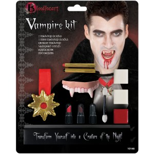 Deluxe Vampire Makeup Kit Adult - White / One-Size