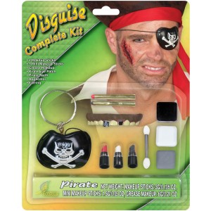 Pirate Makeup Kit Adult - White / One-Size