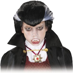 Vampire Wig Child - Black / One-Size