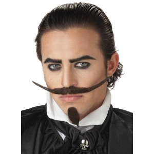 The Dandy Moustache and Chin Patch - Black / One-Size