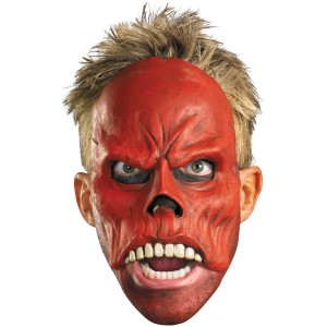 Captain America Movie - Red Skull 1/4 Mask Adult - Red / One-Size