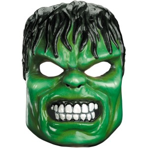 Hulk Vacuform Mask Adult - Green / One-Size