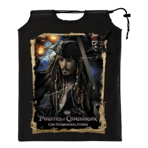 Pirates of the Caribbean 4 On Stranger Tides - Drawstring Treat Sack - Black / One-Size