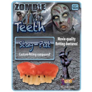 Rotted Teeth Adult - Gray / One-Size