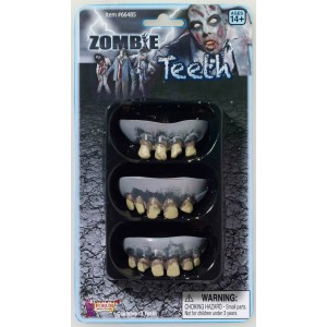 3 Pack Zombie Teeth Adult - White / One-Size
