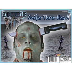 Zombie Knife Thru Head Adult