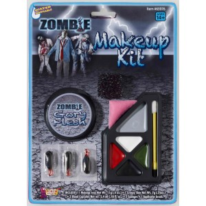 Zombie Make Up Kit - Gray / One-Size