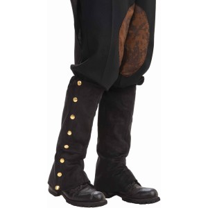 Steampunk Male Spats Black Adult - Black