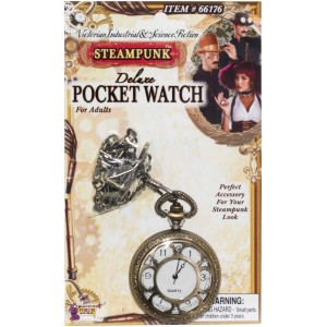 Steampunk Deluxe Pocket Watch - Gold / One-Size