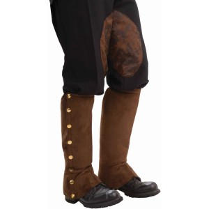 Steampunk Male Spats Brown Adult - Brown
