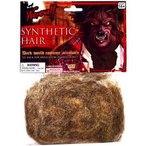 Werewolf Synthetic Hair Adult - Brown / One-Size