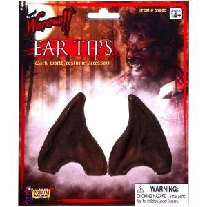 Werewolf Brown Ear Tips Adult - Brown / One-Size