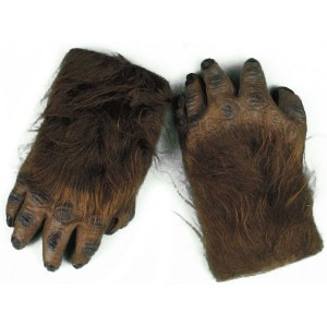Werewolf Brown Hairy Hands Adult - Brown / One-Size