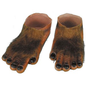 Werewolf Brown Hairy Feet Adult - Brown / One-Size